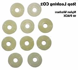 10 Pack Nylon CO2 Regulator Replacement  Nut Washer Kegerato