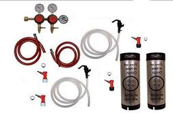 2 Faucet Basic Homebrew Kegerator Kit, Pin Lock, Dual Body T