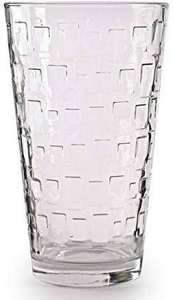 Circleware 40206 Blocks Set of 10-15.7 oz Highball Tumbler D