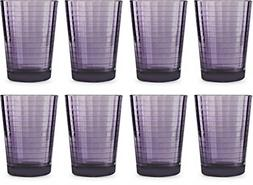 Circleware 44823 Plum Juice Drinking Glasses, Huge Set of 8,