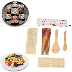 Fenleo Bamboo Sushi Kit, Carbonized Rolling Mats for Mold-Re