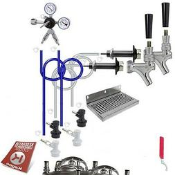 Kegco BF DHCK2 Deluxe Two Faucet Homebrew Kegerator Conversi