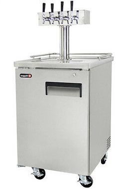 Kegco Commercial Grade Homebrew Kegerator Four Tap Keg Dispe