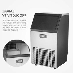 Smad Commercial Ice Maker Stainless Steel 100lbs  Ice Cube M