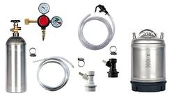 Compact Home Brew Kegerator Kit with New 2.5 Gallon Ball-Loc