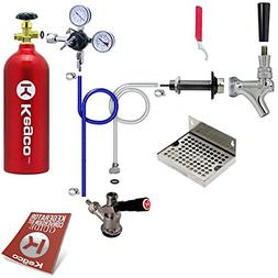 Kegco Deluxe Door Mount Kegerator Conversion Kit with 5 lb.