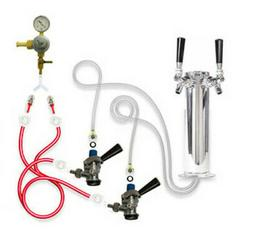 TapRite DK30CPSS02 Kegerator Tower Conversion Kit for Dual T