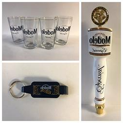 Modelo Especial Draft Kit - 4 16oz Glasses - 1 Tap Handle -