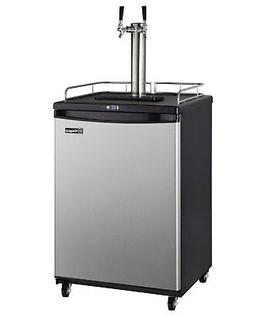 Kegco HBK163S-2K 2-Tap Digital Commercial Homebrew Kegerator