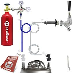 Kegco Standard Homebrew Kegerator Conversion Kit with 5 lb.