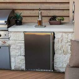 "EdgeStar KC7000SSOD 24"" Wide Outdoor Kegerator for Full Size"