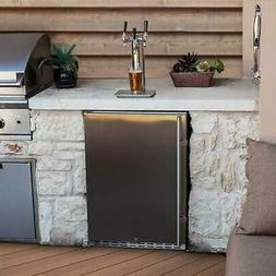 EdgeStar KC7000SSODTRIP 24 Inch Wide Outdoor 3 Tap Kegerator