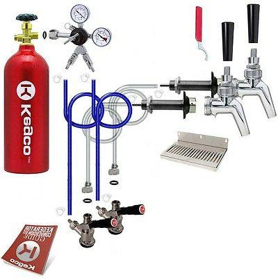 Kegco 2 Tap Premium Door Mount Kegerator Conversion Kit
