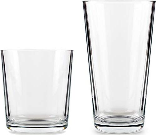 Circleware 40219 Simple Huge 16-Piece 8-15.7 oz Drinking Glasses and Whiskey Cups, Glassware Beer, Juice, Beverages 16pc