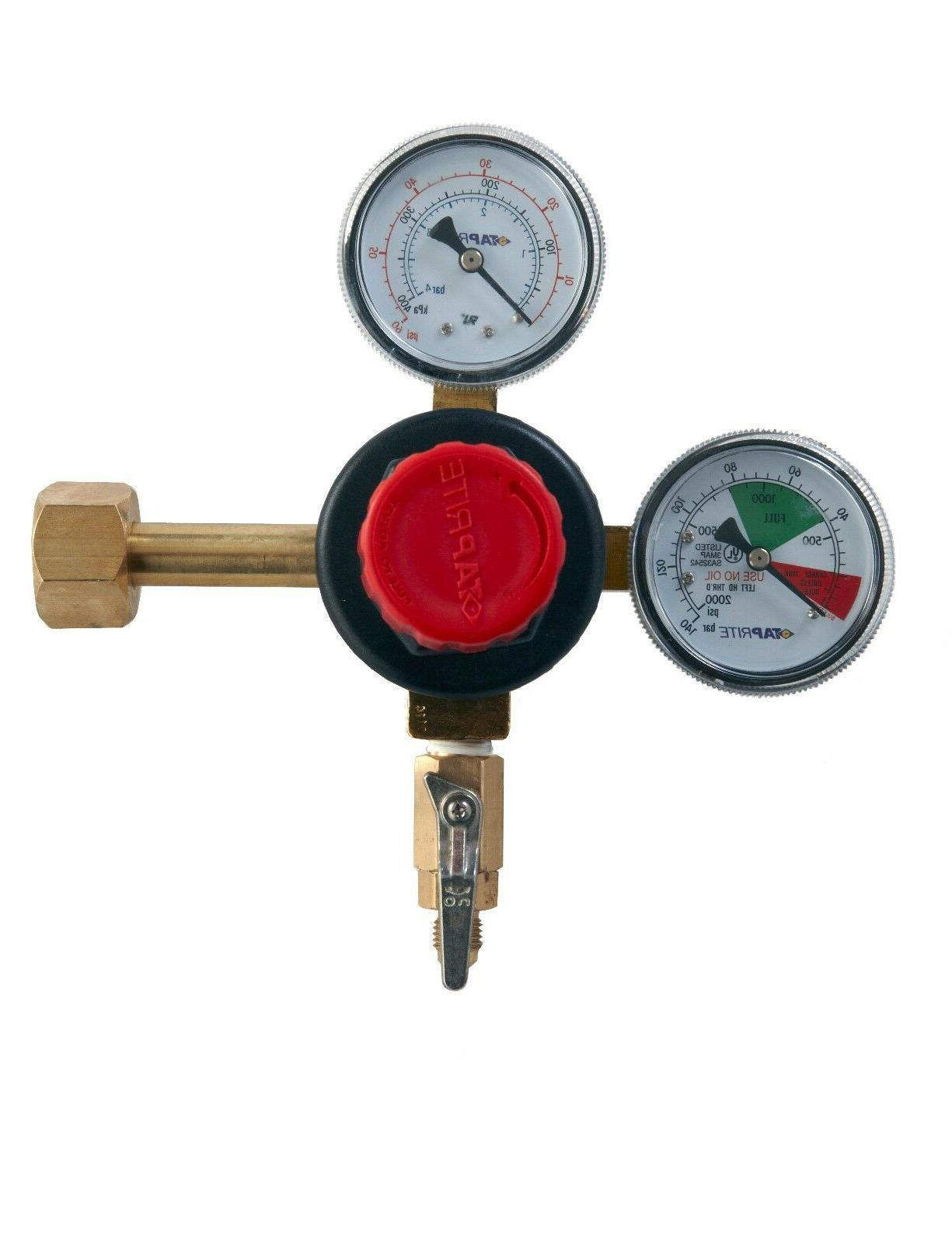 1 X co2 Dual Gauge Regulator High Performance