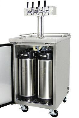 Four Home Brew Kegerator Kegs - Stainless Steel