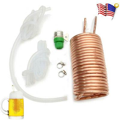 copper cooling coil home kegerators brewing wort