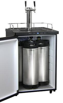 Kegco Homebrew Kegerator 2 Ball Keg Dispenser