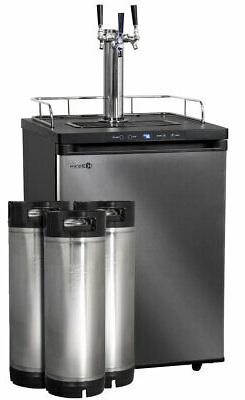 Kegco Digital Kegerator 3 Tap with Ball Lock