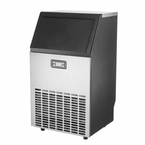 Commercial Ice 100LBS Ice Machine Stainless