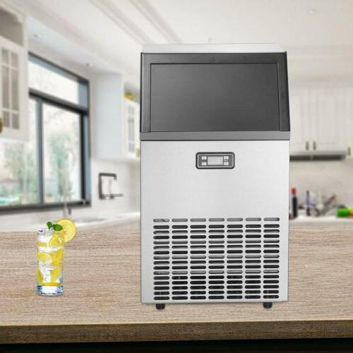 Commercial Ice Maker 100LBS Restaurant Ice Machine