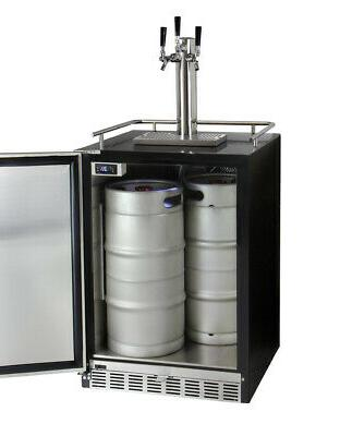 Kegco 3-Tap Kegerator Dispense