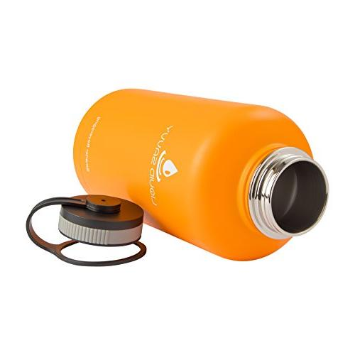 Liquid Savvy oz Insulated Bottle Sleeve Steel, Wide Vacuum Hot