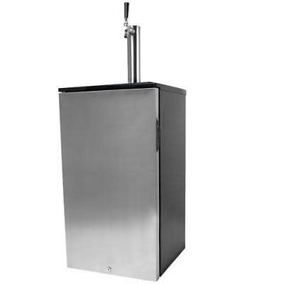 kc1000ss 18in wide kegerator with blue led