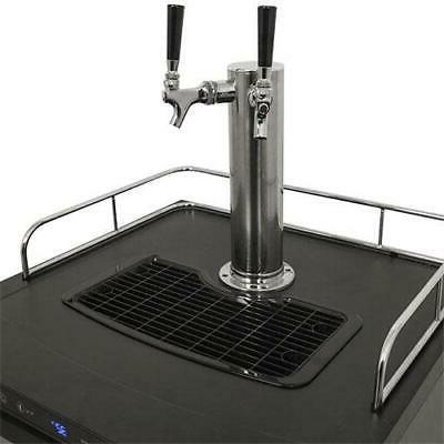 EdgeStar Double Tap Kegerator Stainless Steel