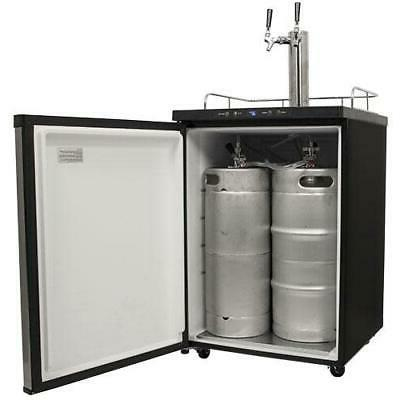"EdgeStar KC3000TWIN 24""W Freestanding Double Kegerator Stainless"