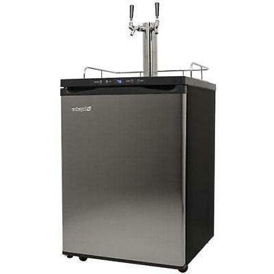 kc3000twin 24 w freestanding double tap kegerator