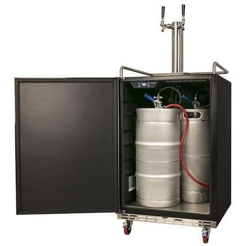 EdgeStar Full Dual Tap Built-in Kegerator Steel Black