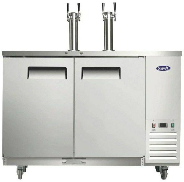 mkc58 58 kegerator with stainless steel dual