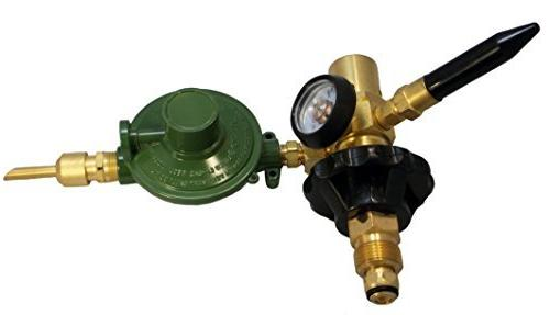 LATEX Filler Inflator E2802HTG-DV Brass Body NEW Valve, Tilt Valve, Cylinder Tight Connection