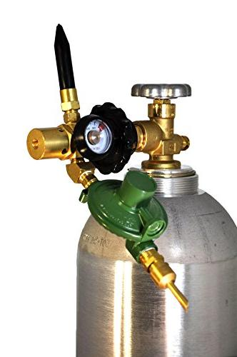 LATEX & Filler Inflator E2802HTG-DV Regulator Body NEW - AUTO ShutOff Valve, Tilt Cylinder Tight Connection