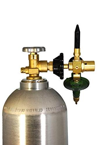 LATEX Balloon Filler Helium E2802HTG-DV Regulator Body NEW Valve, Rubber Tilt Cylinder Gauge, Tight