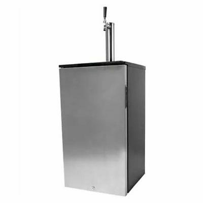 single tap free standing kegerator reversible door