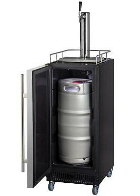 """Kegco SLK15BSR 15"""" Wide Commercial with Stainless Steel"""