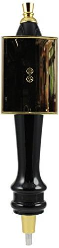 Taphandles STK05-0018-0 Medium Pub Tap Handle, Gold Rectangu