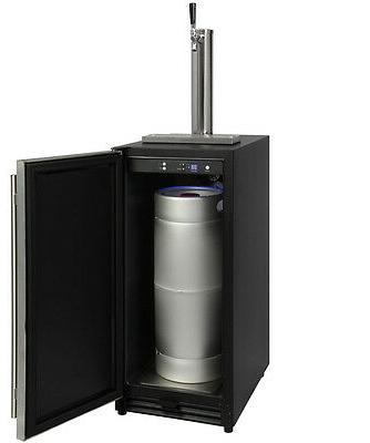 """Kegco VSK-15SSRN 15"""" Wide Built In Undercounter with Stainless"""