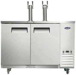 "Atosa MKC58 58"" Kegerator with Stainless Steel Dual Faucet T"