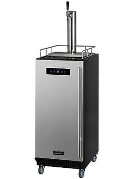 "Kegco SLK15BSR 15"" Wide Commercial Kegerator with Stainless"