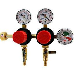 t752hp two product dual pressure kegerator co2